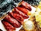 Рецепта Постни пълнени сушени чушки с боб на фурна